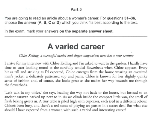 cách làm bài đọc hiểu fce   Món Miền Trung